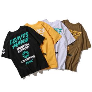 Mens Designer T Shirt Summer Casual Mens Loose Tees Maple Leaf & Letters Print Fashion Hip Hop Short Sleeves Mens T Shirt Size M-2XL