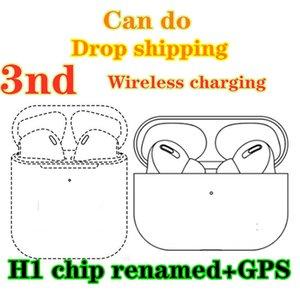 Wireless charging Bluetooth Headphones auto paring 3nd gen Earphones pk pods pro W1 H1 chip AP3 i12 i7 i500 i200 headset Drop shipping