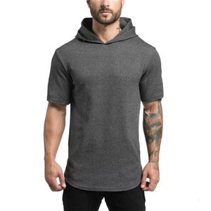 Mens Designer T Shirts Fashion Natural Color Hooded Tees Casual Short Sleeve Tees Mens Active Style Clothes