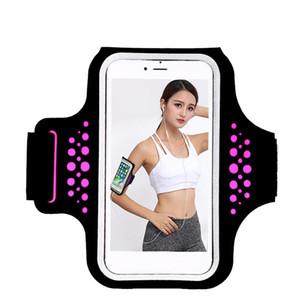 Jogging réglable Randonnée Sports en cours Armband Anti Slip imperméable Fitness Phone Support extérieur exercice pour iPhone6 plus