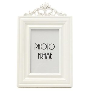 Home Creative Elegant Rectangle Wooden Photo Frame Table Decoration White Home, Office