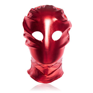 BDSM Bondage Sex Toys New Patent Leather SM Slave Sex Toys Head Mask for Male Adult Sex Product Cosplay Dress Men Gays Fetish Head Hoods
