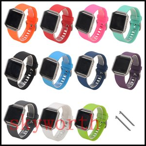 Reemplazo de lujo correa de silicona de alta calidad de la banda de muñeca de silicona Correa Para Fitbit blaze pulsera de reloj elegante de color 11
