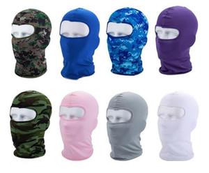 Sport Masque de ski masque Faire du vélo Casquettes Moto Barakra Chapeau CS coupe-vent tête de poussière fixe Masque camouflage tactique WCW812