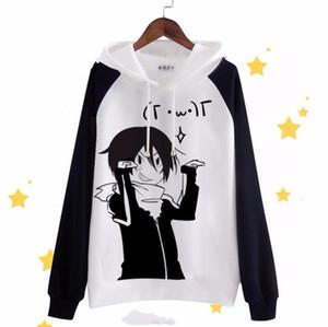 Unisex Мужчины Женщины Anime Noragami YATO Хлопок толстовки с длинным рукавом Круглый шеи Пуловеры Кофты Косплей костюмы