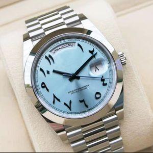 Швейцарские часы Мужские SSS 41мм Мужские DayDate древнеарабских 2813 Автоматическое движение Механические часы Master подметание Движения Сталь Наручные часы