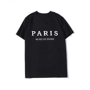 20SS LuxuxMens Designer-T-Shirt Mode Paris Männer Frauen Paare Casual T-Shirt Schwarz Weiß Designer Shirts Größe S-XXL