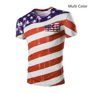 Yeni ABD Kısa Kollu 3D Baskılı Futbol Hayranları T Shirt Casual Erkekler Dünya Kupası Ekip Boyun T Shirt Artı Boyutu M-2XL Sıcak Satış