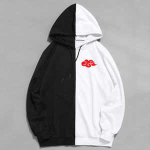 New Arrivals Anime Kleidung Akatsuki Badge Double Color Printing Hoodies Hip Hop Pullover