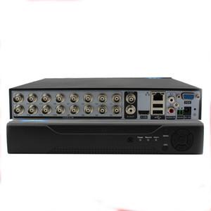 16Ch DVR Hybrid 5-в-1 Disk Видеокамера Поддержка Аналогия + TVI + CVI + ЭН + 960H IP) H.264 CCTV 16Channel Standalone DVR металла оболочки