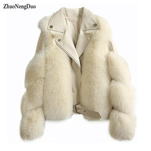 Women Warm Real Fur Coat Short Slim Winter Genuine Fur Jacket Sheepskin Suit Collar Luxury Natural Coat