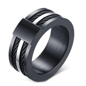 Design Hommes Noir Homme unique bague de mariage de bande en carbure de tungstène Bague 12.5mm Homme anniversaire Bijoux Taille 9 # 10 # 11 # 12 #