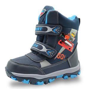 Apakowa hiver bottes de neige imperméables pour les chaussures de randonnée de mi-mollet des enfants de garçons avec de la laine en peluche enfants bande dessinée bottes en caoutchouc de garçon Y190525