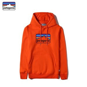 Patagonia alta calidad de algodón con capucha de manga larga diseñador de los hombres de las tapas con el logotipo y las etiquetas de entrega sudadera velocidad del rayo de la Patagonia hombres