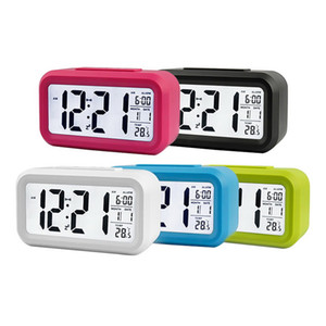 Настольные цифровые часы Внутренний ЖК номер Электронный Измеритель температуры и влажности Цифровой термометр гигрометр Погодная станция Будильник горячей