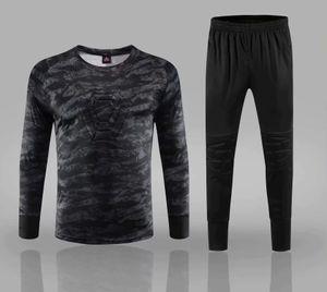 Equipo de Jersey de Portero de Fútbol 2019 para Hombres Camisetas de Fútbol Universitario Chándal Uniformes de Portero Camisas de Entrenamiento Deportivo para Niños Conjuntos de Pantalones