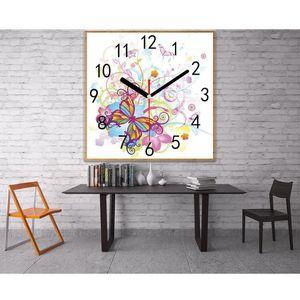 Full Square Round Diamond Painting Clock Diamond Embroidery Needlework Diamond Mosaic Cross Stitch Home Wall Decoration Crafts