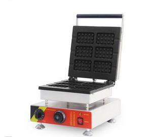 110v 220v Commercial Commercial Waffle, Commercial 6pcs Square Waffle Machine, Helado Waffle Baker