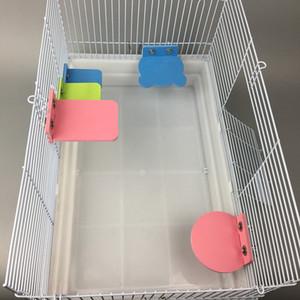 Petit hamster Conseil écologique Plate-forme Support rack Jouet rectangulaire cage d'écureuil accessoires colorés Pet Supplies YQ01758