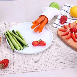 Manuale cetrioli carote divisore di verdure Cutters Frutta Fragola Gadget affettatrice Cucina Cucina Splitter Accessori E6M9