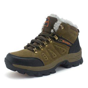 Para mujer para hombre de la nieve botas de escalada al aire libre populares Montañismo zapatos felpa de gran tamaño