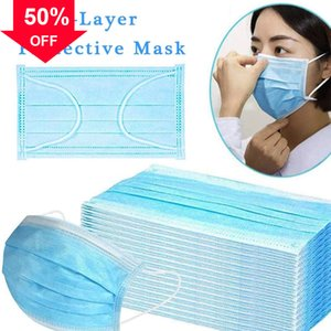 tdFix 2020 New Winter Cotton Blue Health for Anti-dust Warm Mask Disposable Face Anti with Earloop Haze designer facemas