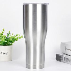 스테인레스 스틸 텀블러 진공 절연 야외 여행 찻잔 큰 용량 마시는 컵 플라스크 40온스 미끄러 뚜껑 40온스 현대 곡선 텀블러