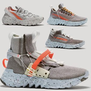 NEW Space Hippie zoomx Eco-friendly materials Recyclable woven material Mens women designer shoes Gray orange blue Fashion Sports Sneakers