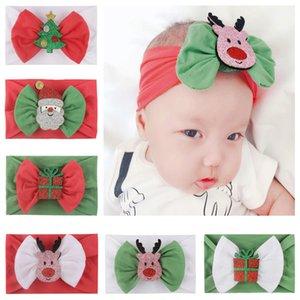 INS Baby Boy девушка Рождество оголовье с Санта-Клауса Bow Xmas Tree Gift Box Симпатичные полосы волос