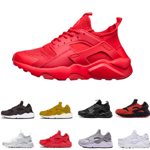 nike huarache 4.0 2.0 1.0 2018 New Air Huarache 4 IV Scarpe ultra casual per uomo Donna All Red Huraches Huaraches Mens Scarpe da ginnastica Hurache Sports Sneakers Taglia 36-46