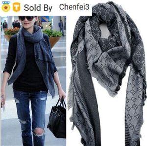 Chenfei3 XSL7 Fabrik-Verkaufs-Qualitäts-klassische Wolle-Kaschmir-Schal-Frauen-Silk-Verpackungs-Schal Brief Druck Schal 140x140cm