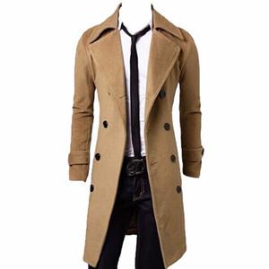 Kış Yün Coat Erkekler Slim Fit Ceket Erkek Moda Kabanlar Sıcak Erkek Casual ceketler Palto Yün Coat Plus Size 5XL