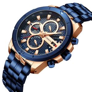 New Mens Watch Six Needle Multi-Function Quartz Watch Calendar Steel Mens Watch