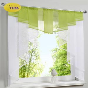 Fliegende Tulle Küchenvorhang Für Fenster Balkon Rom Plissee Design Nähte Farben Voile Sheer Drapieren Weiß Garn Vorhänge Kurz