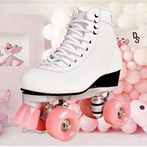 Nouveau Style Adulte Rouleau à double rangée Skates à quatre roues Skates Adulte Hommes et Femmes Chaussures de plein air Livraison Gratuite