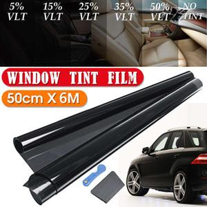 6M * 0,5M Car Window Film Noir Tint teinter Rouleau Kit VLT 8%, 15%, 25%, 35%, 50%-Proof Résistant aux UV pour fenêtre automatique