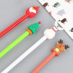 Renas de Natal Neutral caneta criativa tinta preta Snowman Papai Noel Gel Pens bonito neut Pen Stationery presente da escola Fontes LXL600