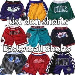JA Моран пережитка баскетбол шорты вобще Майкл MJ Wade Hardaway Айверсон Картер карманы Митчел Несс Pantalones де Baloncesto