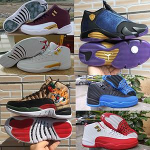 Rero 12s men Basketball shoes stock x Dark Grey Reverse Taxi Game Royal Hot Punch aj 1 mens NakeskinJordan 12 trainers sports sneakers