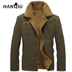 2019 Winter Bomber Jacket Hombres Air Force Pilot Ma1 Jacket Warm Male Fur Collar Hombre Army Tactical Fleece Chaquetas Envío de la gota T190827