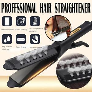 Saç düzleştirici dört-dişli sıcaklık ayarı Seramik Turmalin İyonik düz demir Curling demir saç bigudi için kadın saç