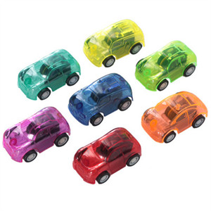 Mini Children toys Pull back car Transparent racing toy candy color back racing Plastic Pull Back Car Easter Egg Filler Cute Car Toys