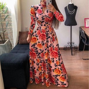 New Arrival Women Long Sleeve Dresses Fashion Autumn Winter Womens Stylish Printed Dresses Casual Streetwear High Quality Clothes Size S-5XL
