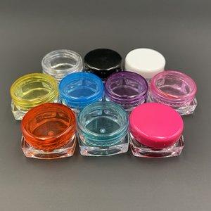 3g 3ML 5g 5ml Quadrat Rund Bunte durchsichtigem Kunststoff kosmetische Container Schraubverschluss Sahneglas Lippenbalsam Pille Lagervial Flasche