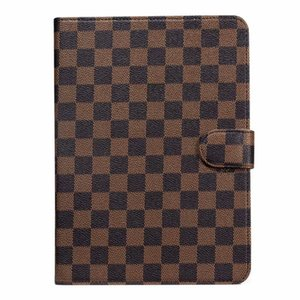 Case Mode Grille Vintage tablette pour 2020 iPad pro 12.9 / iPad pro 11 / air 10.5 / iPad 10.2 / mini-45 / iPad 56 cartes en cuir Porte-TPU étuis pour ipad