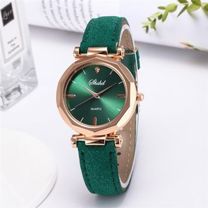 Fashion Women Leather Casual Luxury Analog Quartz Crystal Wristwatch Female 2020 Dress#A