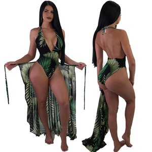 Bohemian Summer Beach women set tracksuit fashion sexy Print Playsuit+ Cloak Coat Two pieces suits vacation casual Outfits