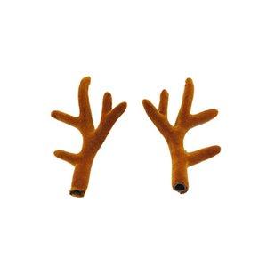 Пара Сымитированных Рогов Тиара ободки стекались Sika Deer DIY аксессуары Материалы Christmas Party Supplies Фотография Принадлежит