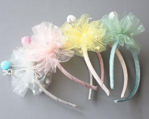 Nouveau bébé cheveux Sticks Ring Bearer Gaze Flowe Hairband Royal Prince style enfants Bandeaux Shinning Cristal luxe Couronne Filles Bandeaux prince