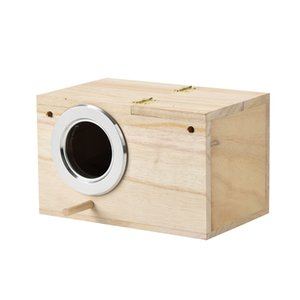 NEW ARRIVAL Parakeet Ne st Box Bird House Wood Breeding Box for Lovebirds Parrotlets Mating for Pet Dog Cat Accessories #0207G03